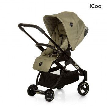Коляска 3 в 1 iCoo Acrobat XL Plus Trio Set Diamond olive
